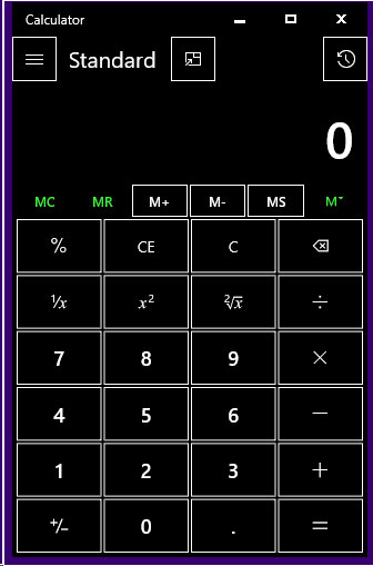 Calculator in High Contrast